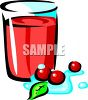 Cranberry Juice clipart