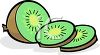 Sliced Kiwi Fruit clipart
