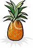 Whole Tropical Pineapple clipart