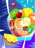 Summer Fruit Salad clipart