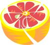 Juicy Grapefruit Half clipart