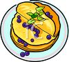 Pancakes with Blueberries clipart