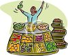 Open Fruit Market clipart