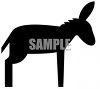 Donkey Silhouette clipart