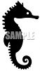 Seahorse Silhouette clipart