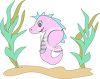 Cute Cartoon of a Baby Seahorse clipart