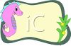 Seahorse Page Border clipart