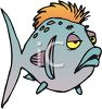 Sick Cartoon Fish clipart