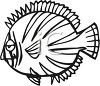 Black and White-Flat Cartoon Fish clipart
