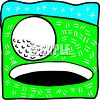 Golf Ball Rolling Into the Hole clipart