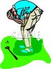Golfer Upset Over Missing a Shot clipart