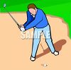 Golfer Stuck in a Sand Trap clipart
