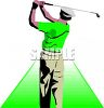 Sports Design-Man Playing Golf clipart