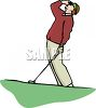Golfer Watching His Ball clipart