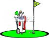 Golf Bag at the 18th Hole clipart