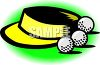 Golf  Visor and Balls clipart