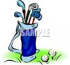 Golf Bag and Ball on a Tee clipart