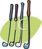 Golf Clubs of Various Kinds clipart