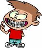 Cartoon of a Boy with New Braces clipart