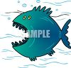 Cartoon Fish with a Big Mouth clipart