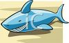 Smiling Shark clipart