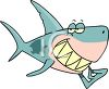 Cartoon Shark with a Toothpick clipart
