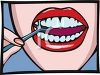 Woman Flossing Her Teeth clipart