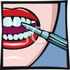 Woman Having Her Teeth Cleaned clipart