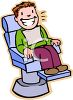 Boy at the Dentist with Clean Teeth clipart