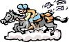 Pony Express Rider Delivery Mail Carrier clipart