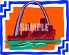 Mississippi River and St Louis Arch clipart