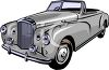 Vintage Convertible Sedan clipart