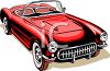 Vintage Convertible Sports Car clipart