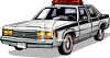 Retro Cop Car clipart