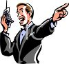 Boxing Announcer Shouting Into a Microphone clipart