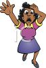 Black Woman Shouting in Fear clipart