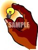 Hand Holding a Nightlight Bulb clipart
