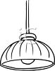 Black and White Hanging Lamp clipart
