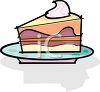 Slice of Layer Cake with Filling clipart