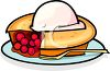 Cherry Pie with Ice Cream clipart