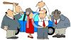 Group of Business People Having Road Rage clipart