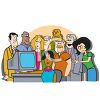 Cartoon of a Group of Office Workers  clipart