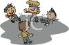 Boys Playing Blind Man's Bluff clipart
