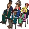Group of Business People at a Seminar clipart