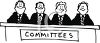 Black and White Committee clipart