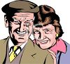 Happy Elderly Couple clipart