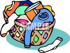 Basket of Laundry clipart