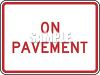 American Road Signs-On Pavement clipart