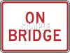 American Road Signs-On Bridge clipart