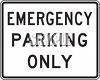 American Road Signs-Emergency Parking Only clipart